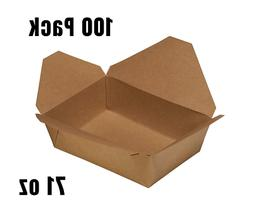 71oz Disposable Paper Take Out Food Containers -Kraft To Go