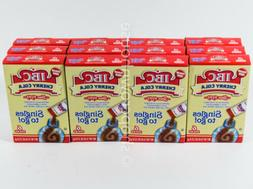 12 Boxes - IBC Cherry Cola Singles To Go Drink Mix Water Enh
