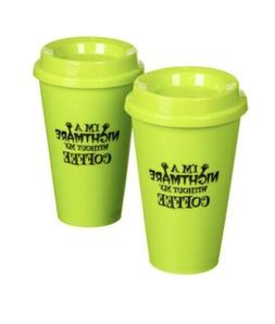 2 Pack-Spooky Halloween Take It To Go Plastic Coffee Cups-Po