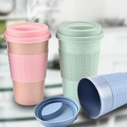 350ml Eco-Friendly Resuable Wheat Straw Coffee to Go Cups Tr