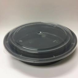 48oz To-go Round 150-Pack Food Container with Lid Sushi Sala