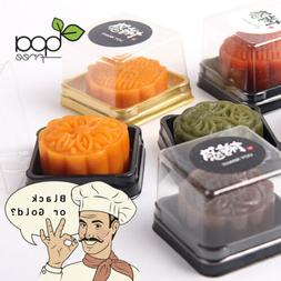 50/100 Square BPA-Free Plastic Mooncake To Go Container Box