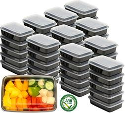 50 Pack - SimpleHouseware 1 Compartment Reusable Food Grade