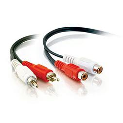 C2G 40468 Value Series RCA Stereo Audio Extension Cable, Bla