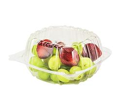 Dart Container 50 Piece, Clear Hinged Plastic Food Take Out