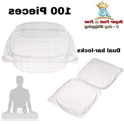 Dart Solo Small Clear Plastic Hinged Food Container for Sand