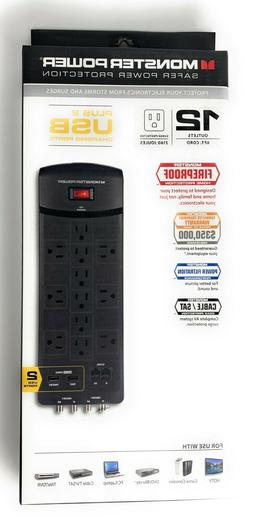Monster Core Power - EXP 1200 AVU- 12-Outlet Surge Protector