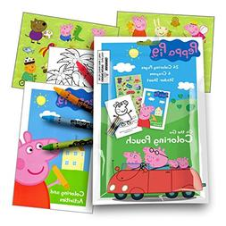 Peppa Pig On The Go Coloring Fun Pack with Stickers, Crayons