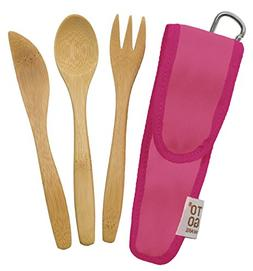 To-Go Ware RePEat Bamboo Kids Utensil Flatware Set- Melon