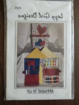 Lazy Girl Designs APPLIQUE TO GO Quilt Sewing Pattern Organi
