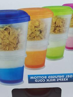 cereal to go snack food storage container