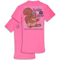 Southern Couture Classic I'm Bout to Go Nuts-Safety Pink