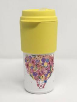 coffee to go mug 16oz 470ml flower