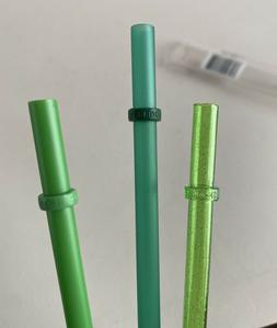STARBUCKS Cold-to-Go Straws Replacement 3 pack 16oz Green GR