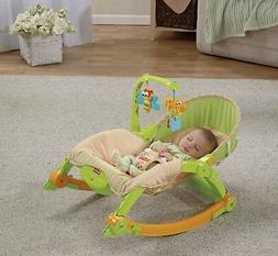 """Fisher-Price """"Mocha Butterfly"""" Comfy Time Bouncer - lime, on"""