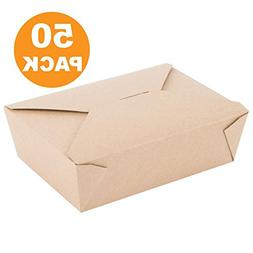 "71 OZ 8.5 x 6 x 2.5"" Disposable Paper Take Out Food Containe"