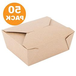 "45 OZ 6 x 5.75 x 2.5"" Disposable Paper Take Out Food Contain"