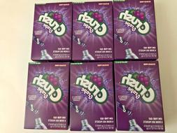 CRUSH GRAPE Drink Mix Singles to Go! 6 Boxes / 36 Packets to