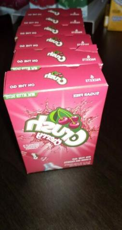 CRUSH STRAWBERRY Drink Mix Singles to Go! Sugar Free 6 Boxes