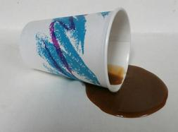 FAKE FOOD DINER SPILLED COFFEE TO GO W/CREAM