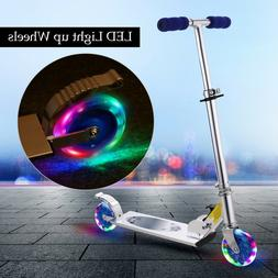 Folding Kick Scooter with LED Light Up Wheel Ready-to-Go for