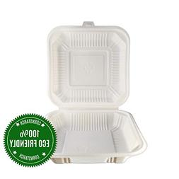 HeloGreen Eco-Friendly  Cornstarch Disposable Take Out To Go