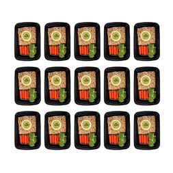 Freshware 15-Pack 1 Compartment Bento Lunch Boxes with Lids