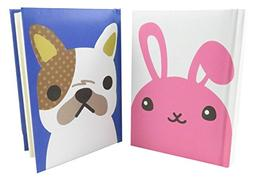 "Fun Rabbit and Dog Notebook Journal Diary 5 3/8"" x 3 7/8"" Ru"