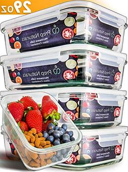 Glass Meal Prep Containers - Food Prep Containers with Lids