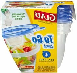 Glad To Go Lunch 32 oz Containers 4 ct