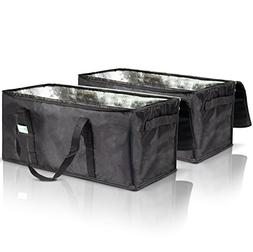 Premium Insulated Food Delivery Bags Set of 2 - Waterproof R