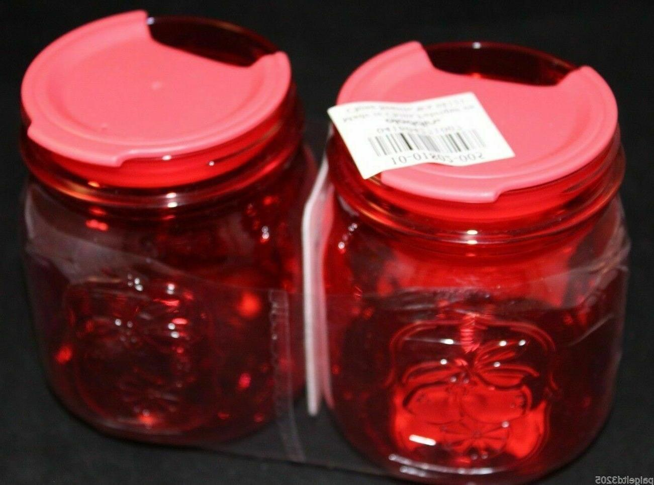 2 classic mason to go cups red