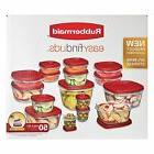 Rubbermaid 50 pc Easy Find Food Plastic Storage Containers S