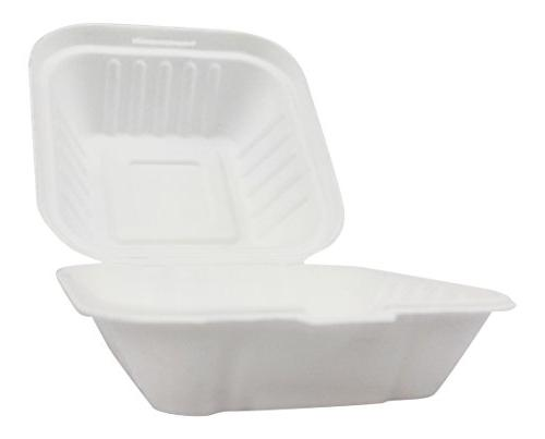 Clamshell Hinged Box Containers To Go Take Out Food Restaura