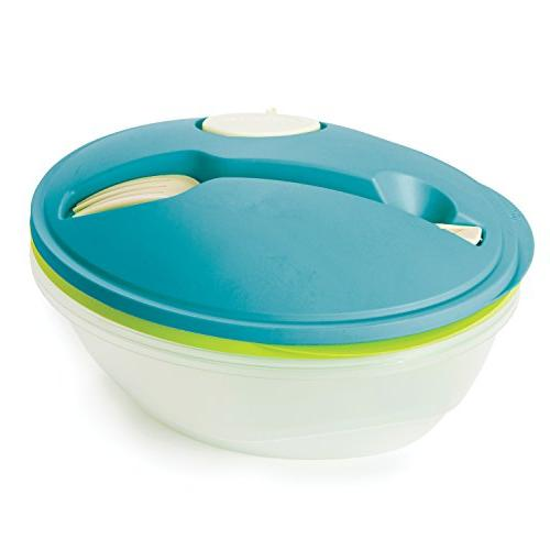 Life To-Go Bowl Container Bowl, Dressing Lid, Fork, Pack