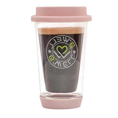 b well 12 oz glass travel mug