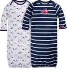 GERBER BABY BOY Lap Shoulder Gowns 2-Pack - FIRETRUCK Baby S