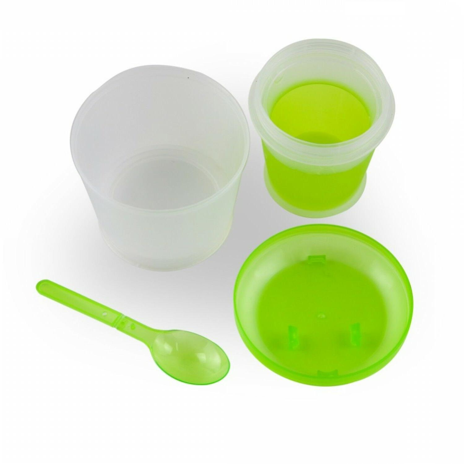 Cereal To Snack Food Layer With Spoon