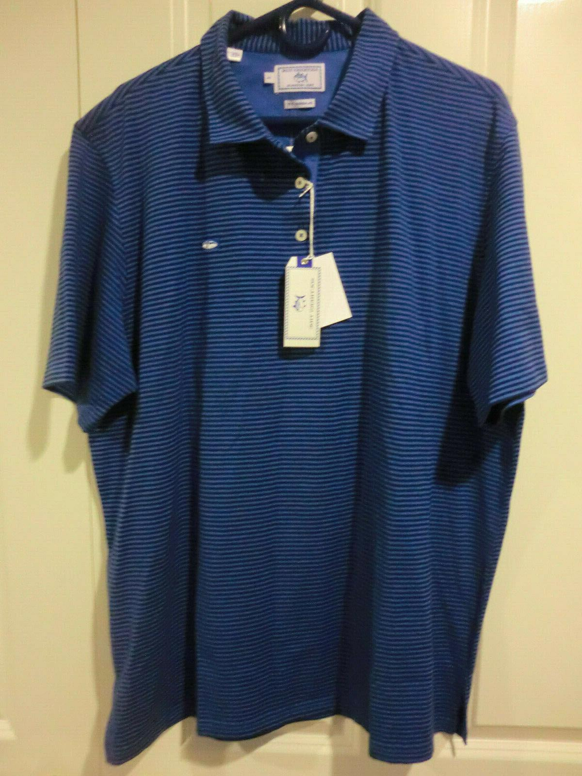 "Southern ""Channel Polo NWT Mens XL Meridian Blue 1305"