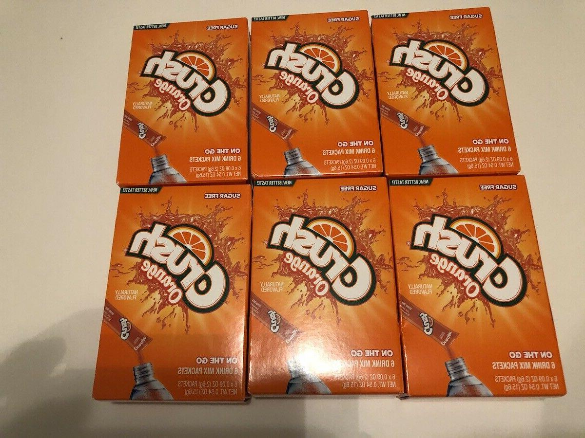 drink mix singles to go 6 boxes