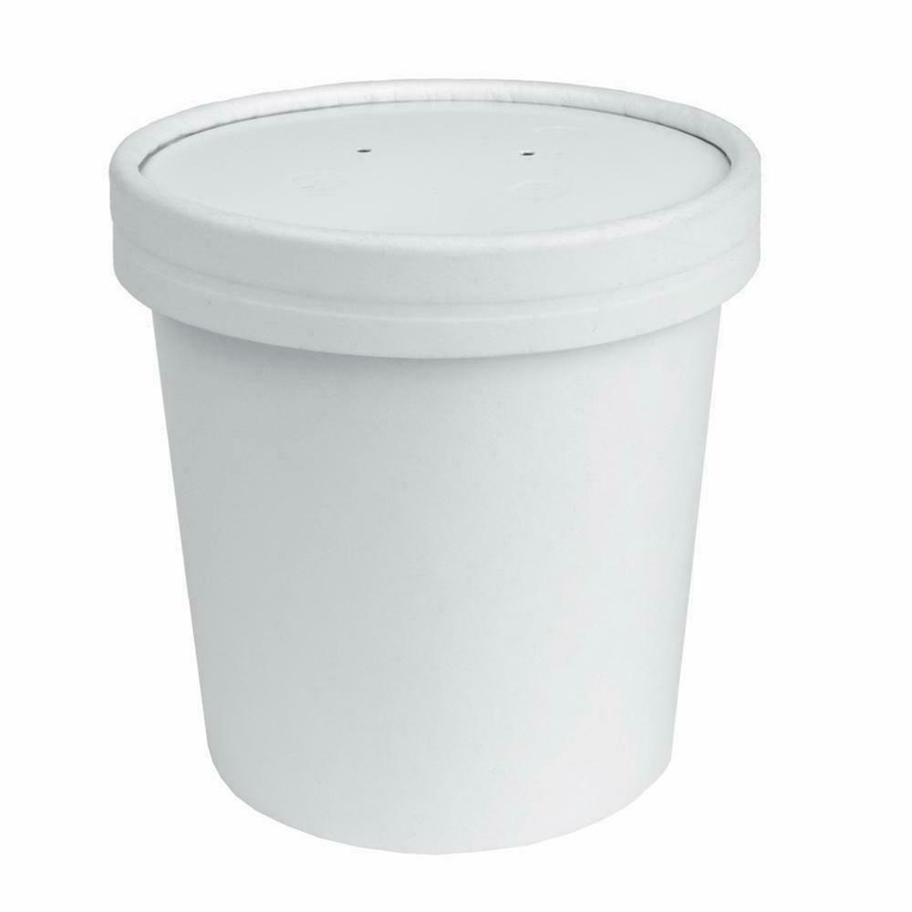 Paper To Go Containers With Vented Lids 16 oz  - Disposable
