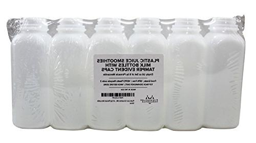 Empty with Tamper Evident Caps 6 for Juices, Other Beverages – by Pinnacle Mercantile
