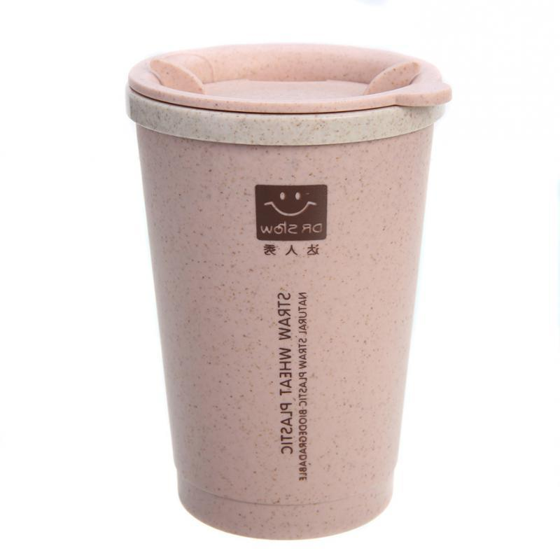 Reusable Travel <font><b>To</b></font> <font><b>Go</b></font> CoffeeCup with Lid Stalk Bottle Sleeve for and 250ML