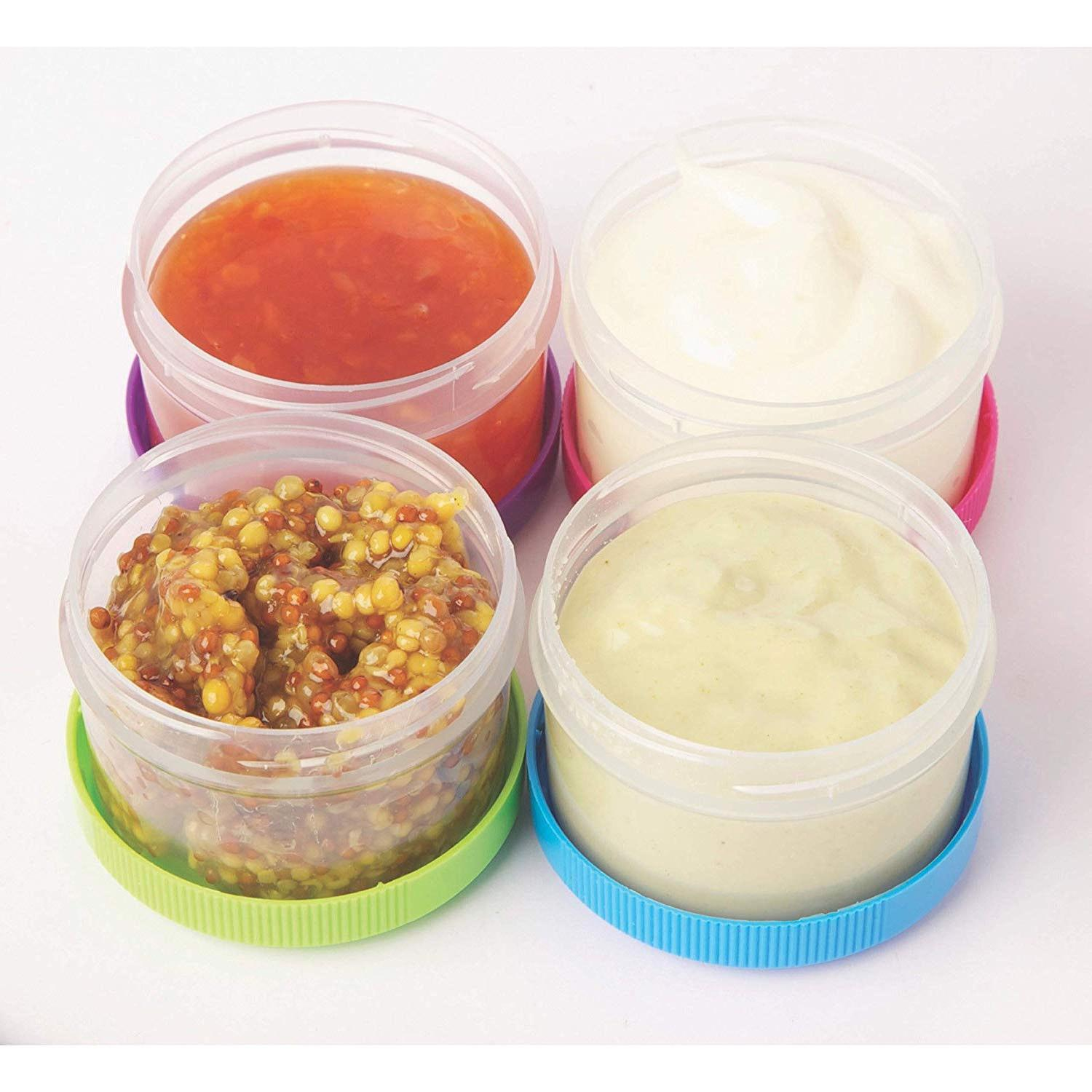 Salad Dressing Leak Proof Lid To go Plastic Cups
