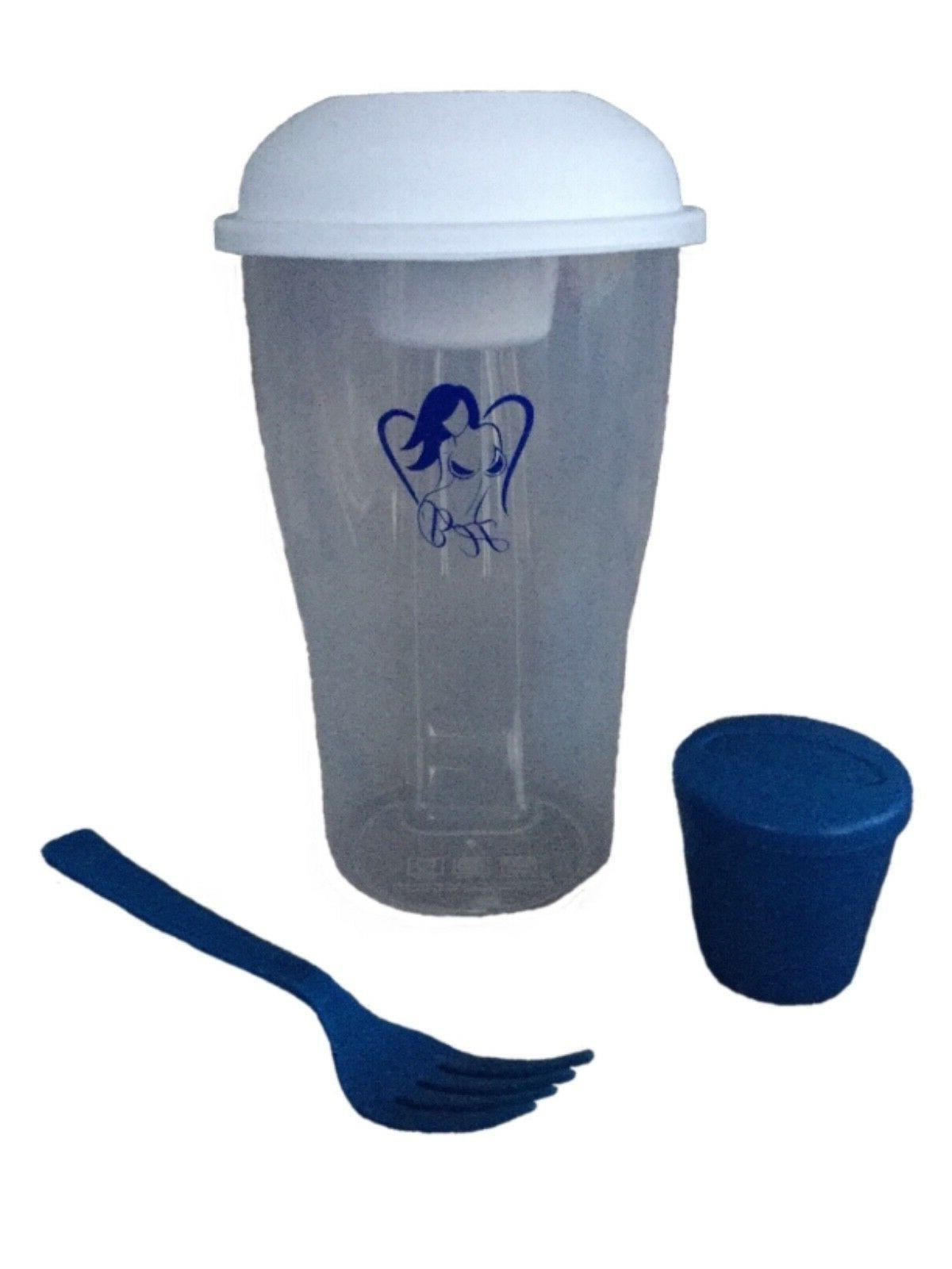 "HEAVENLY ""SALAD SHAKER, TO-GO LUNCH & Dressing Cup"