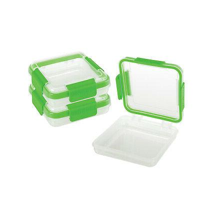 snap lock sandwich to go container set