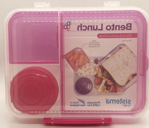 Sistema To Go & Food Container Choice Of 4