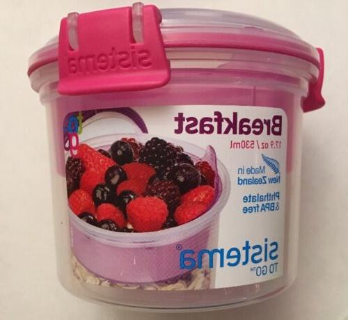 Sistema Go Breakfast 17.9 Oz./ & Free Spoon Various