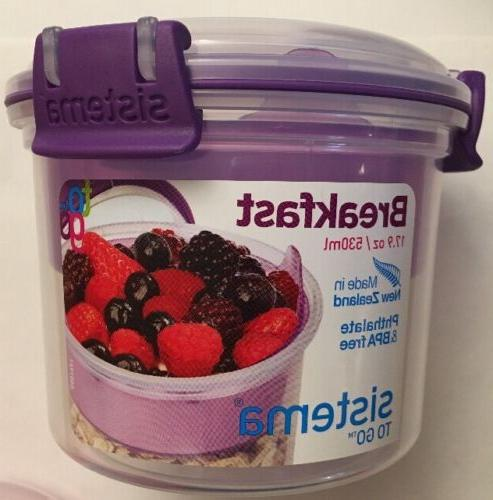 Sistema To Go 17.9 Oz./ & BPA Free Spoon Various