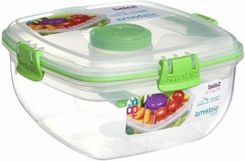 Sistema To Salad Food Container, 37 oz./1 Assorted Colors